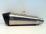 Scarico Moto Conico Ovale Inox Fondello Carbonio 1