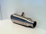 Scarico Moto Conico Ovale Inox Fondello Carbonio