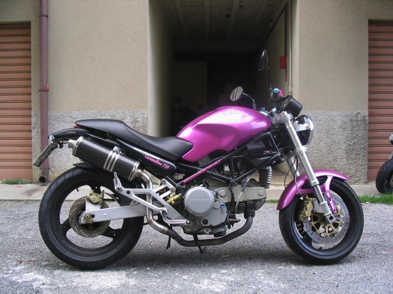 Ducati Monster 600 620 695 750 800 900 1000 Tondi Carbonio Fondello Inox Alti 1