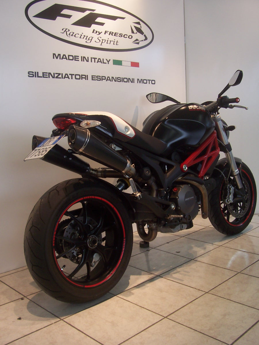 Ducati Monster 696 796 1100 Conici Ovali Full Carbon 8