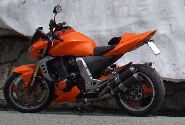 Kawasaki Z 1000 04-06 Quadrisilenziatore (2 per lato) Tondi Carbonio 2
